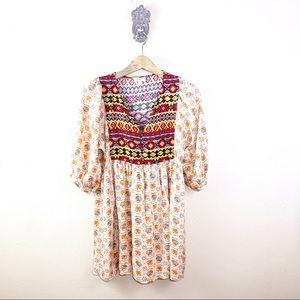 Umgee Boho Baby Doll Dress